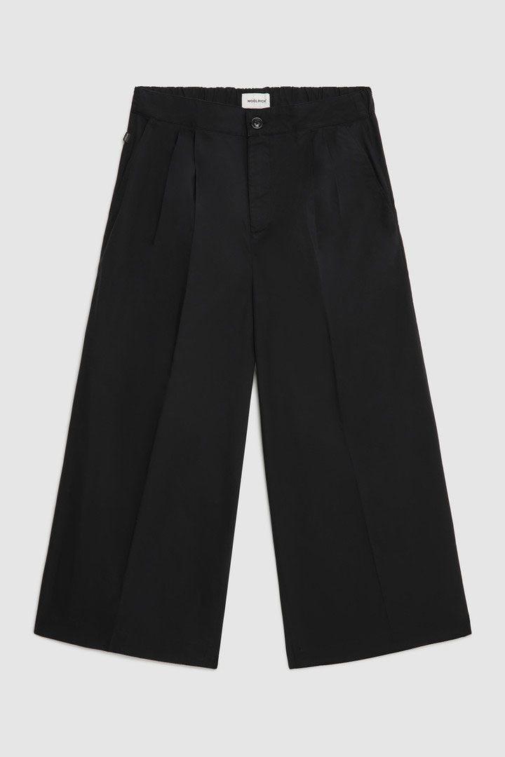 Pantalone Woolrich Popeline a Gamba Larga Nero