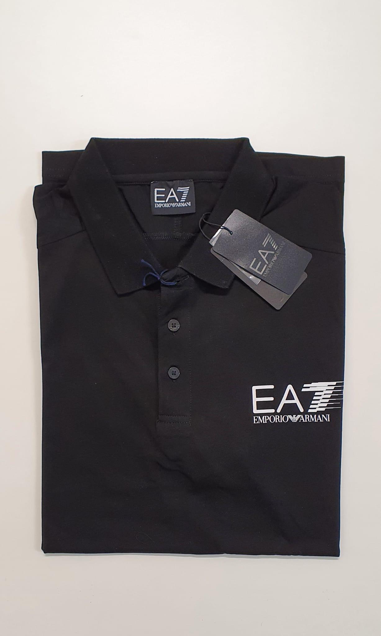 Polo EA7 Jersey Elasticizato Nero