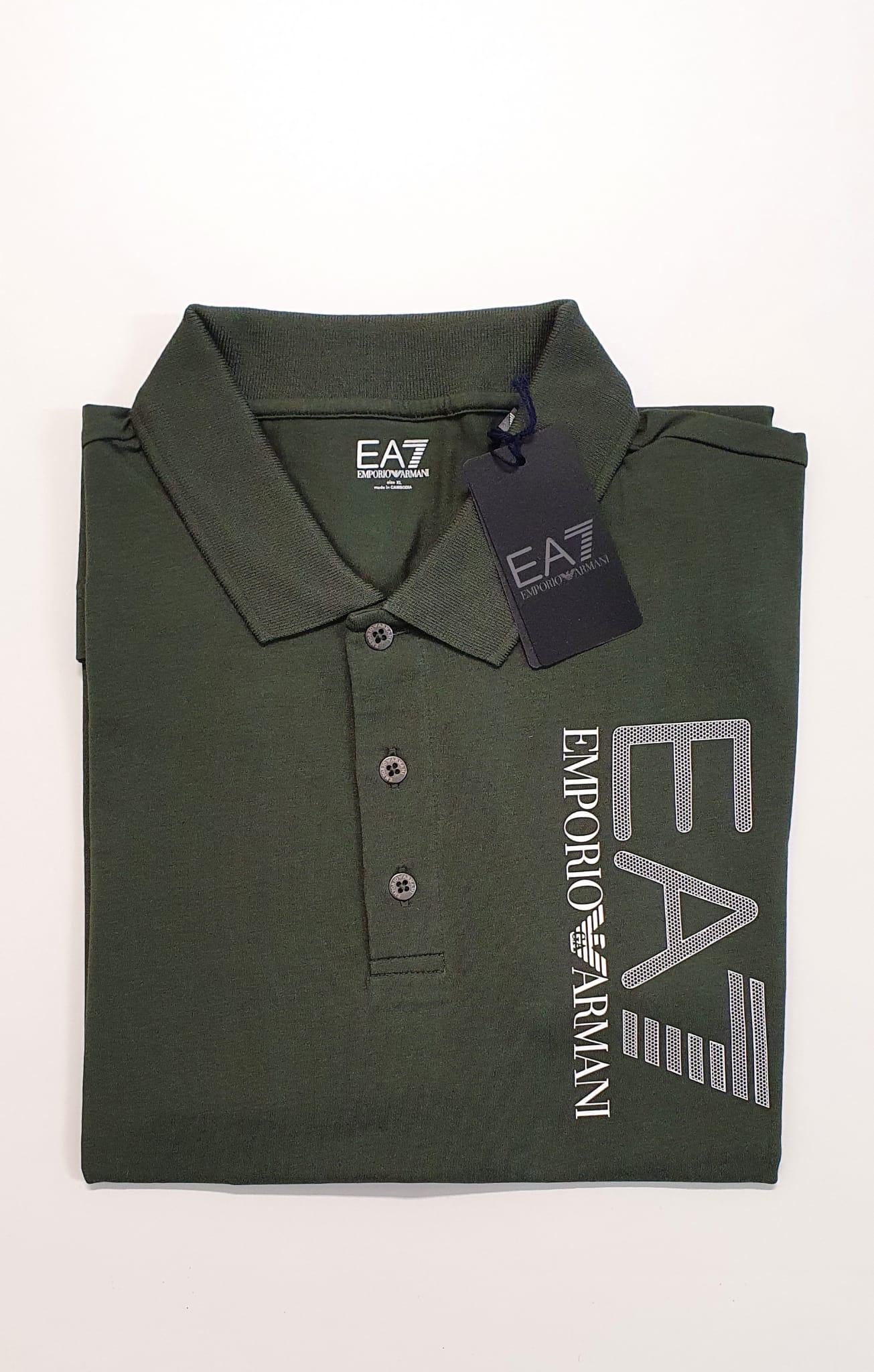 Polo EA7 Jersey Militare