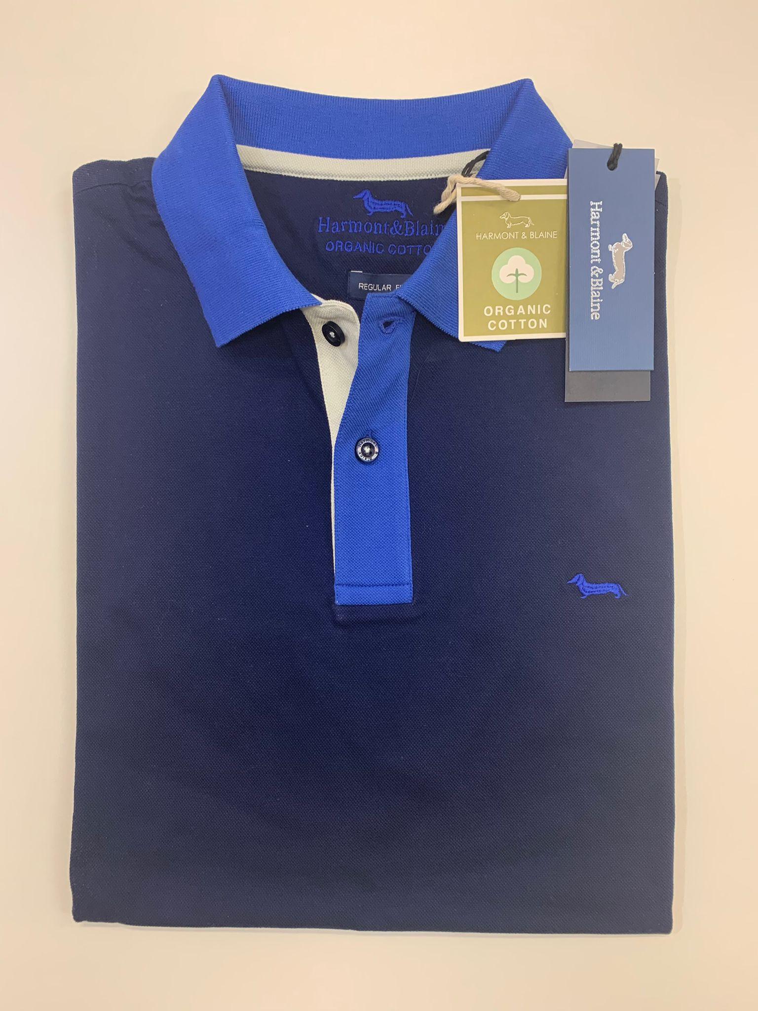 Polo Harmont e Blaine Pique Regular 3 Colori Blu