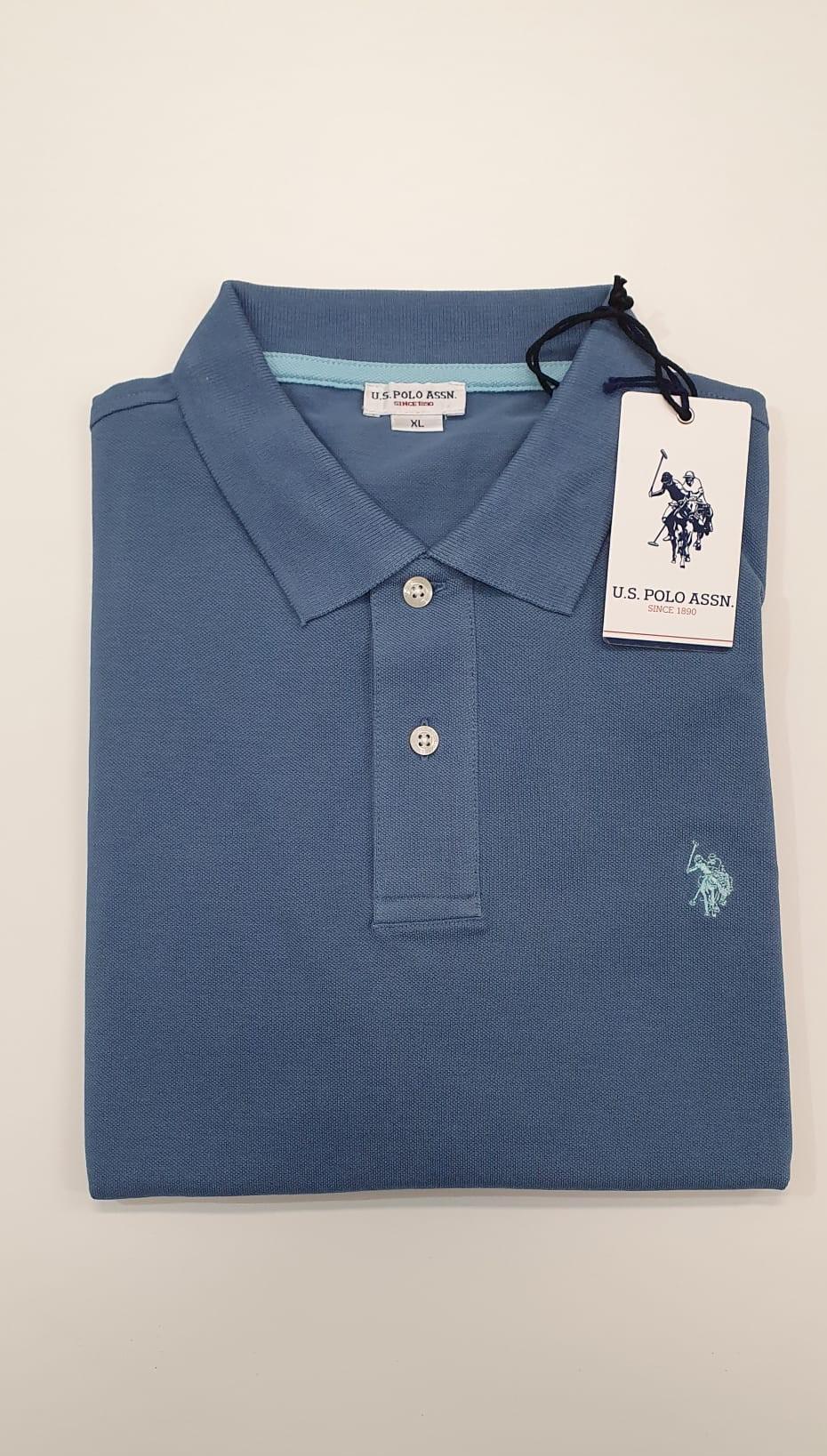 Polo US Polo Basica Azzurro