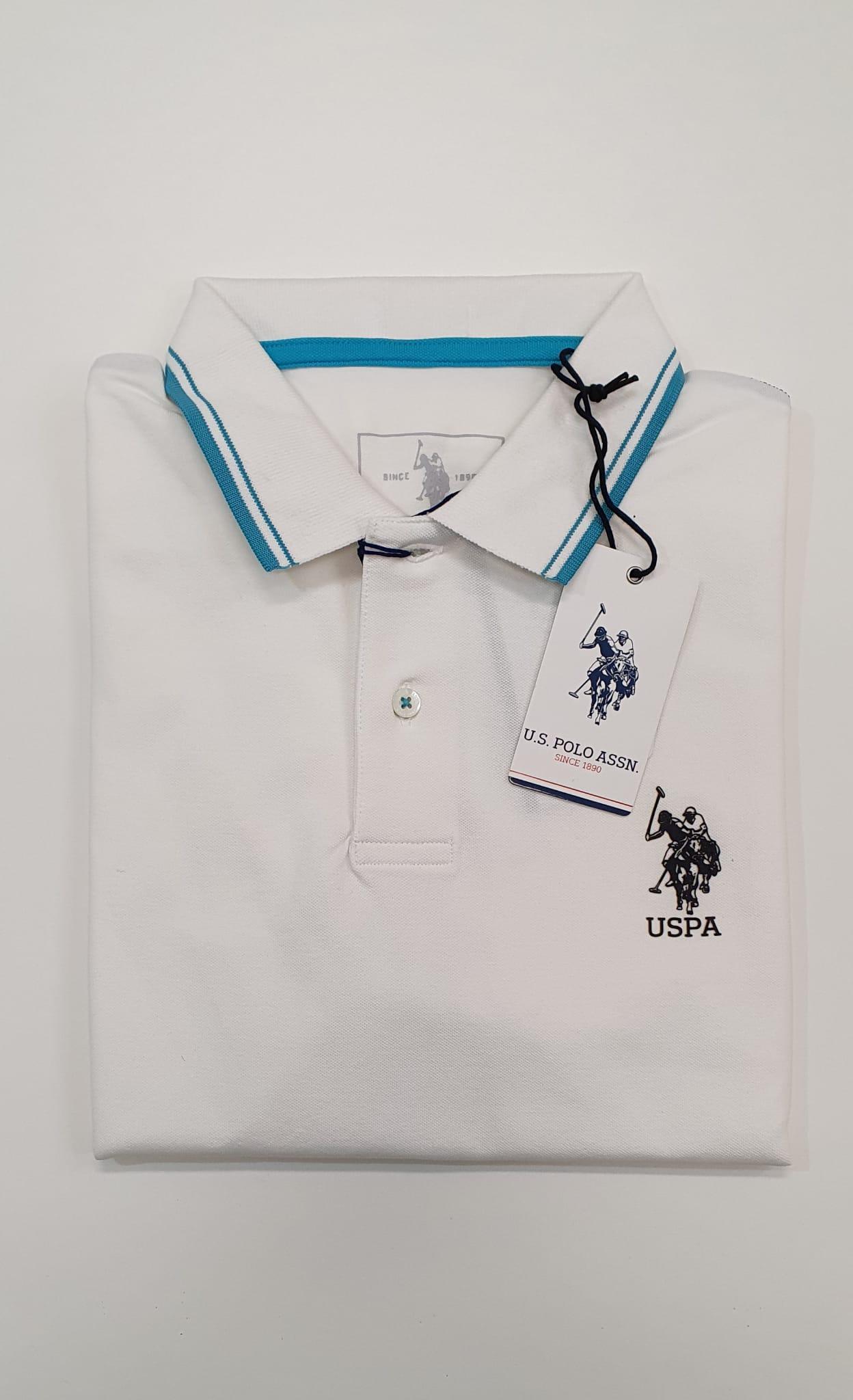 Polo US Polo Bordino Bianco