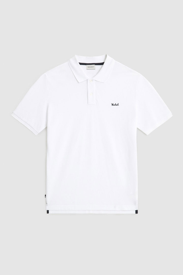 Polo Woolrich in cotone Pique Bianco