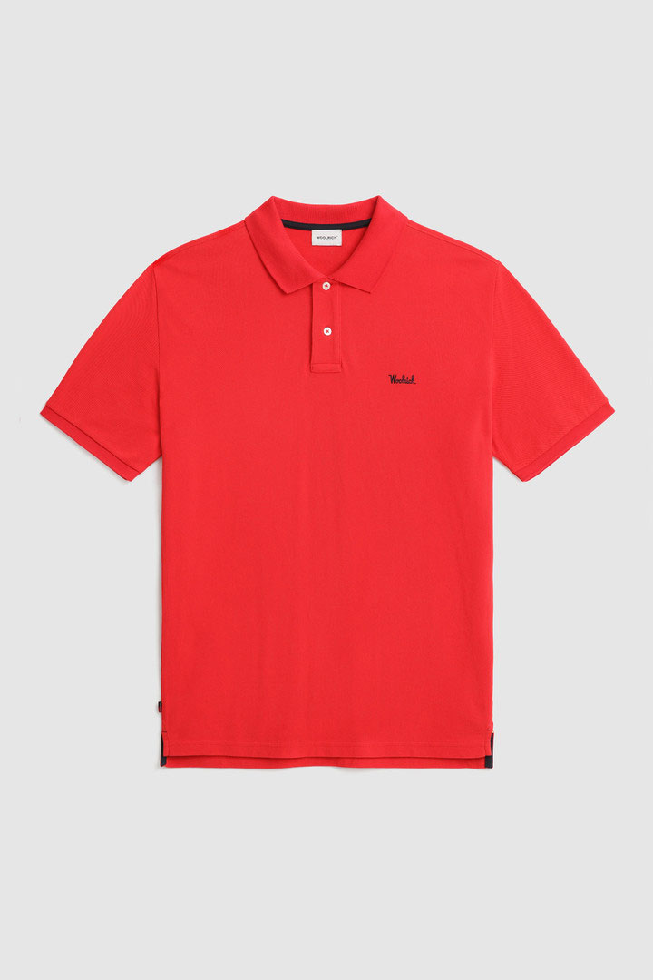 Polo Woolrich in cotone Pique Rossa