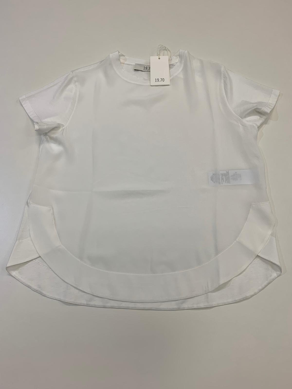 T-Shirt Donna Seventy Misto Seta Panna