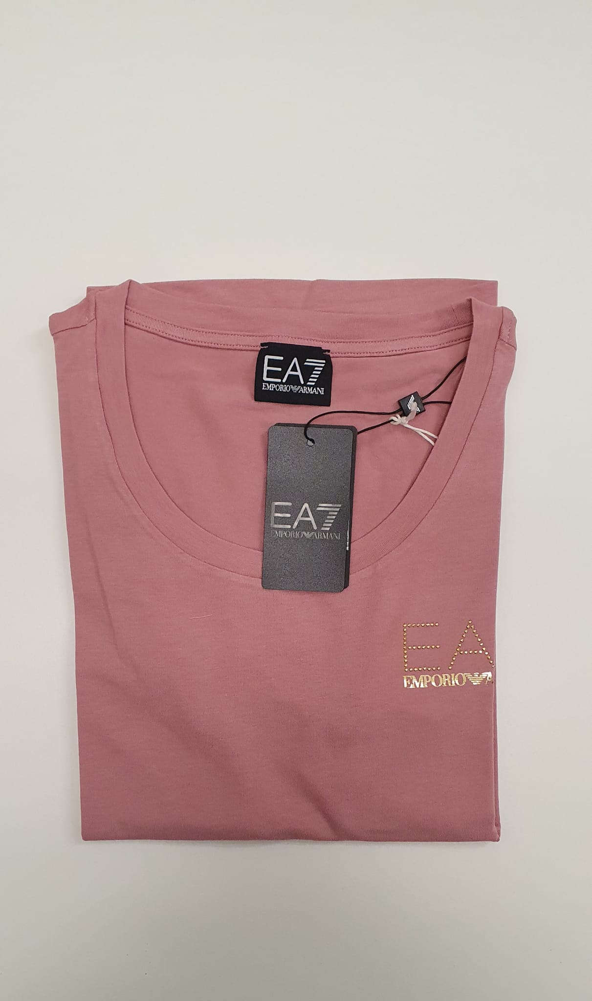 T-Shirt EA7 Modal Rosa