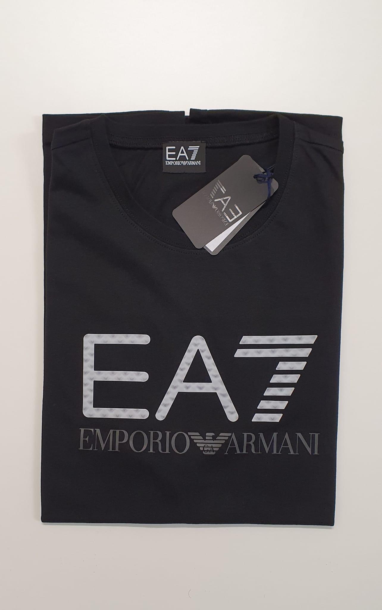 T-Shirt EA7 Reg Scritta 3D Nero