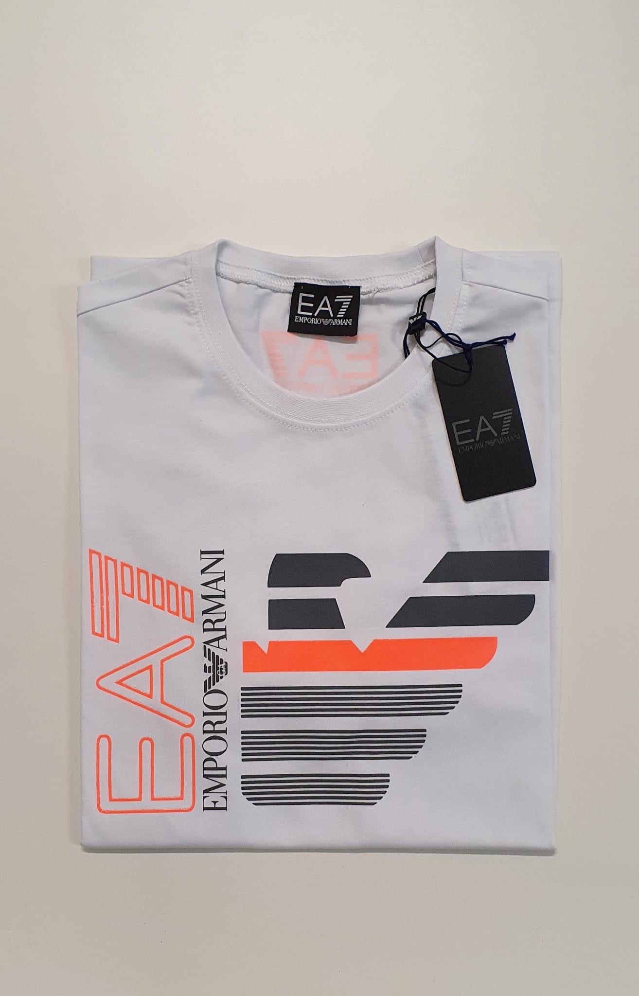 T-Shirt EA7 Reg Scritta Bianco