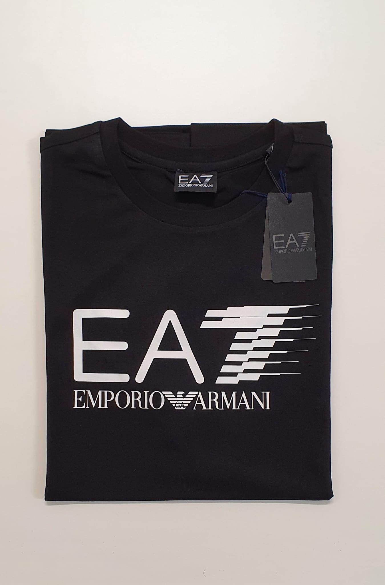 T-Shirt EA7 Reg Scritta Nero