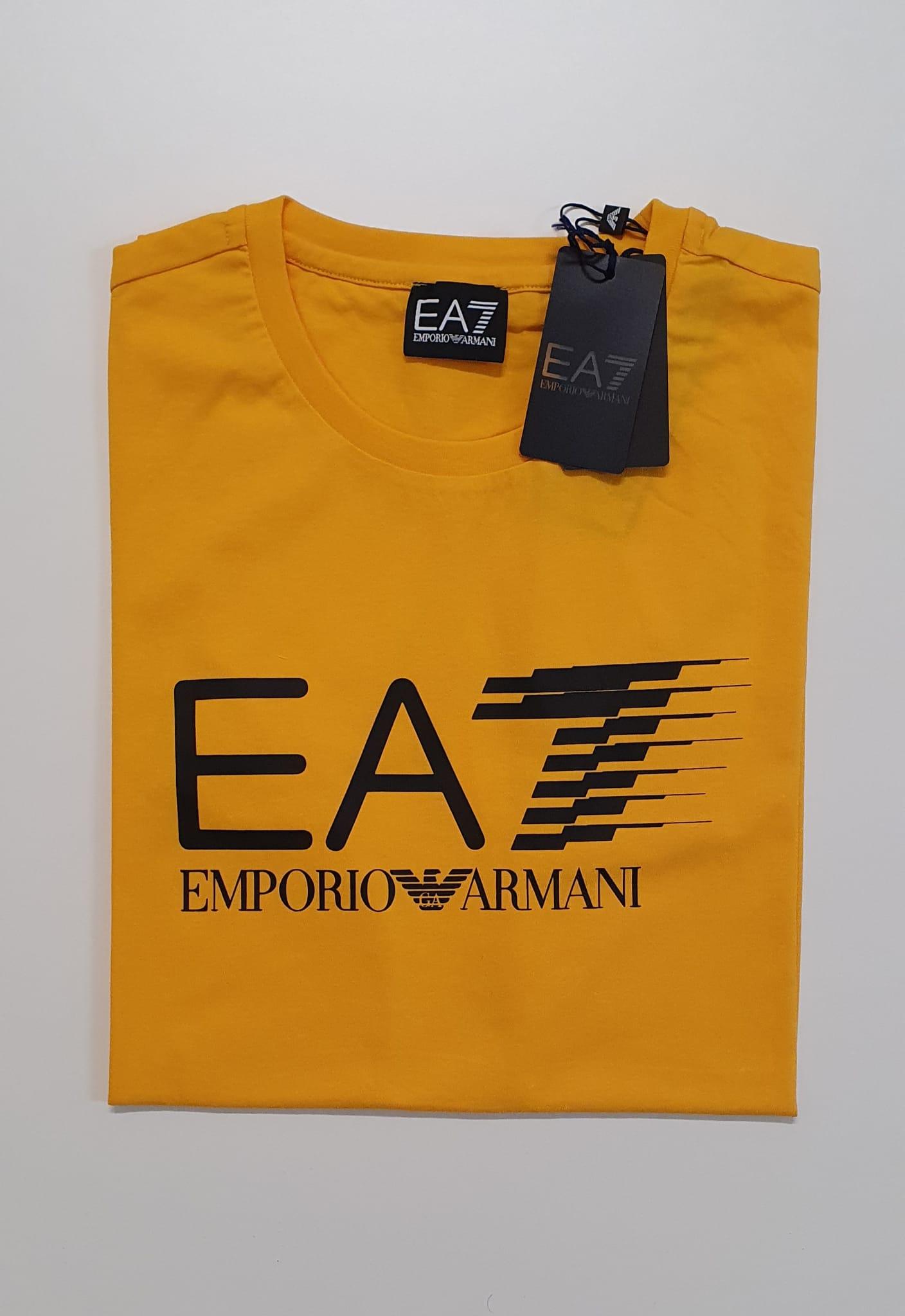 T-Shirt EA7 Reg Scritta Zafferano
