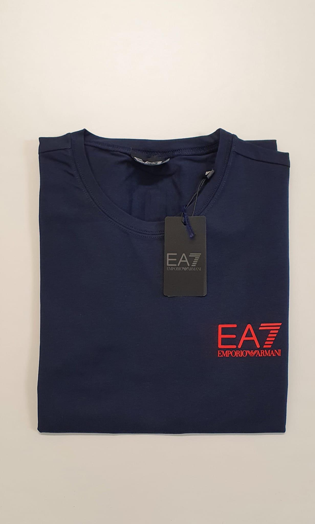 T-Shirt EA7 Slim Elastica Blu