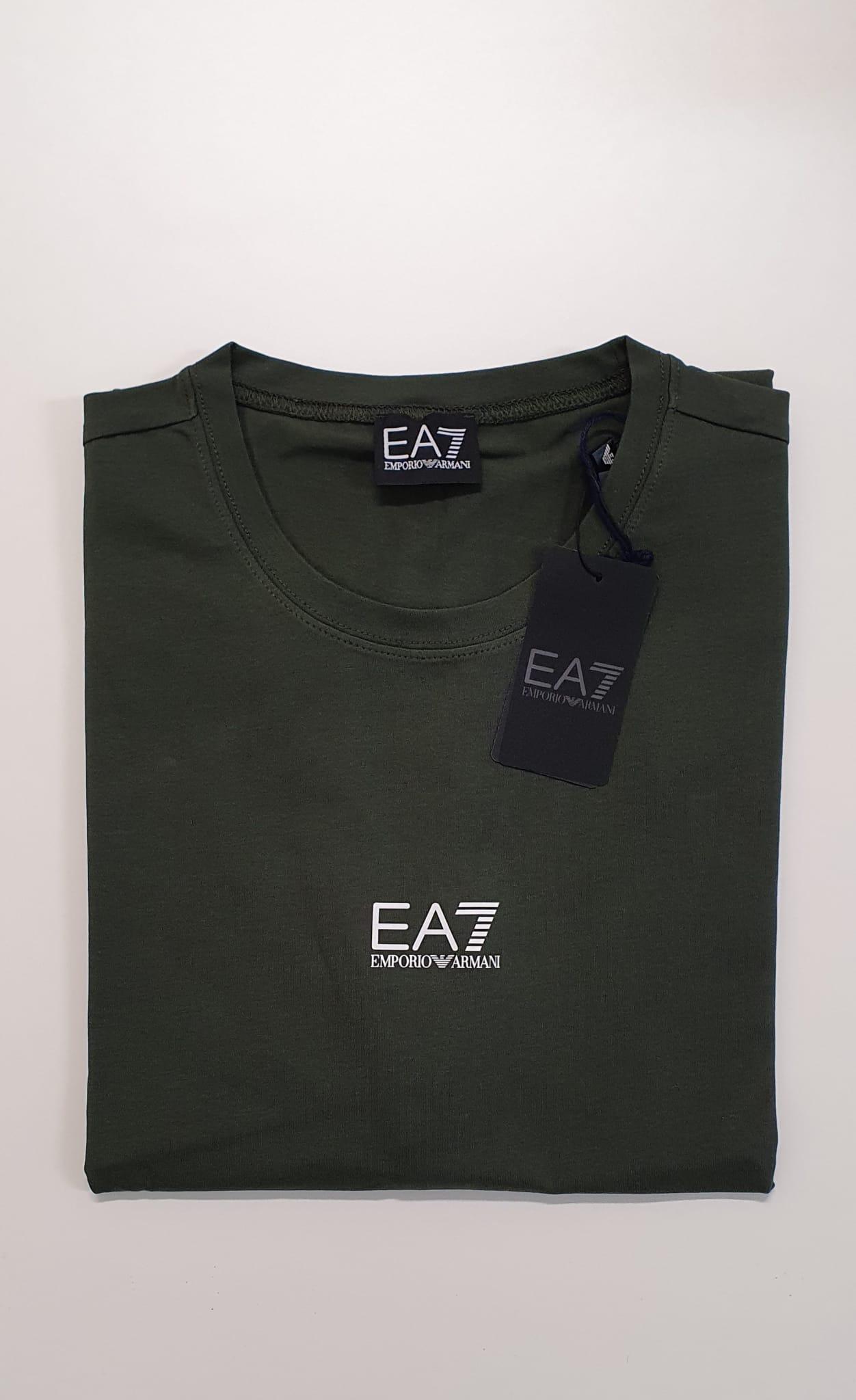 T-Shirt EA7 Slim Elastica Militare