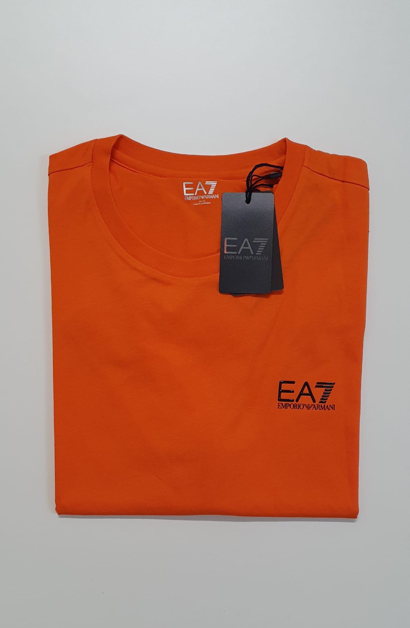 T-Shirt EA7 Vestibilita Regolare Arancio