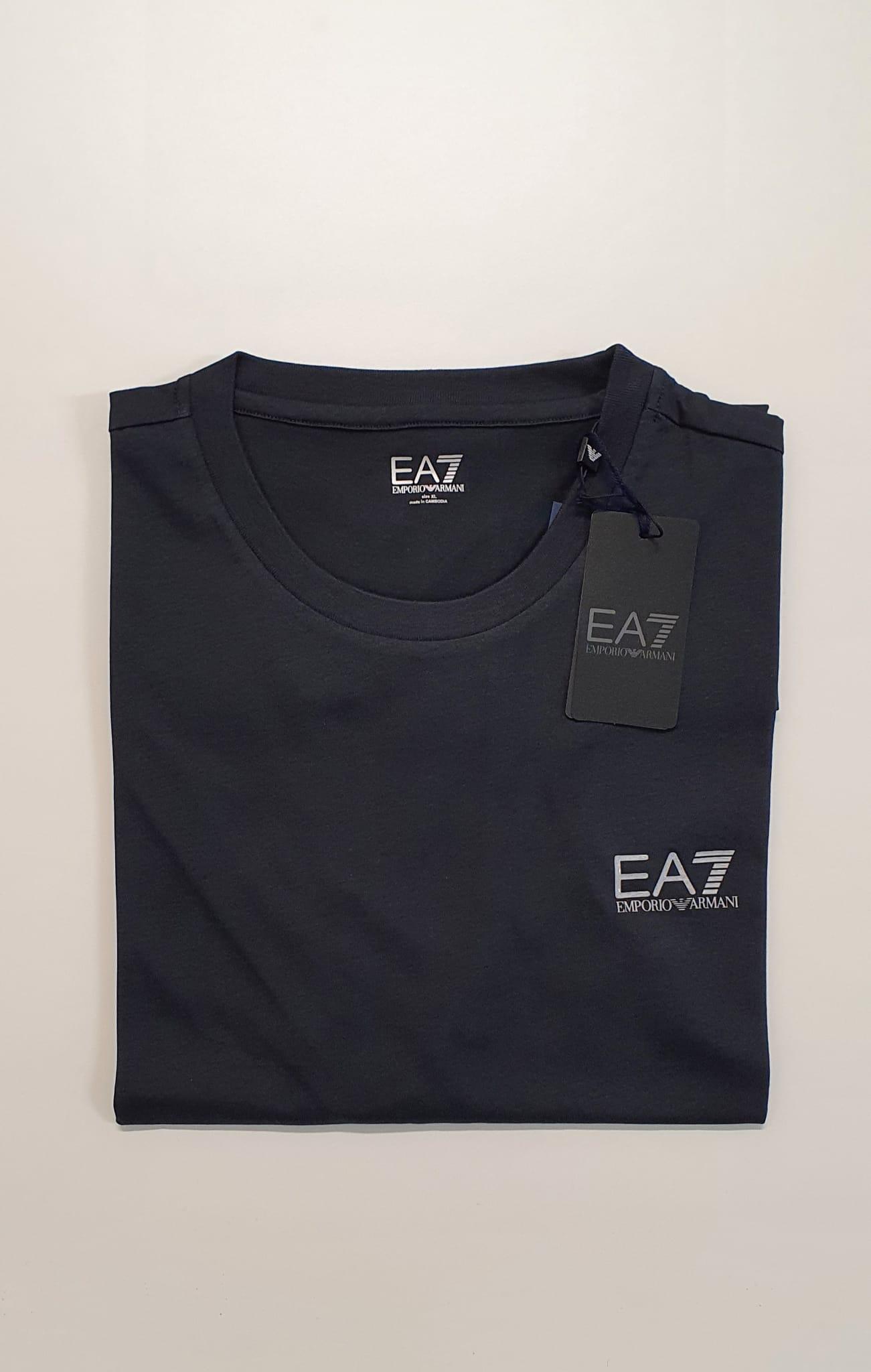 T-Shirt EA7 Vestibilita Regolare Blu