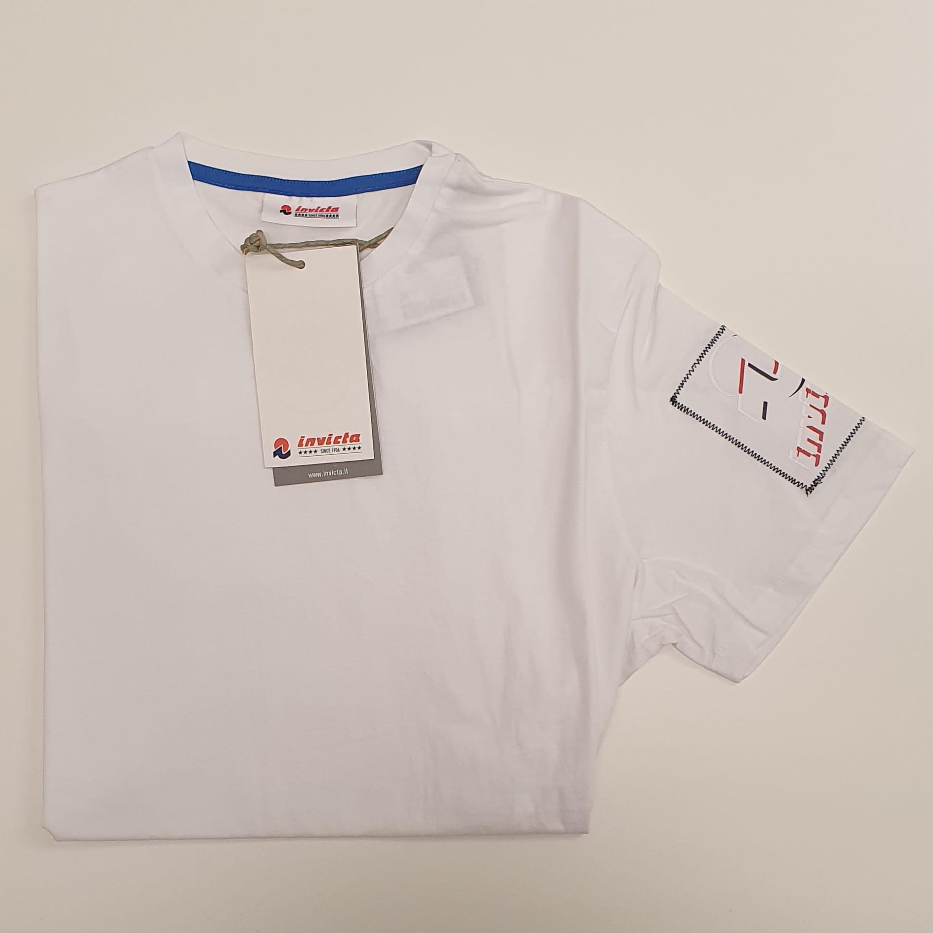 T-Shirt Invicta a Maniche Corte Bianco