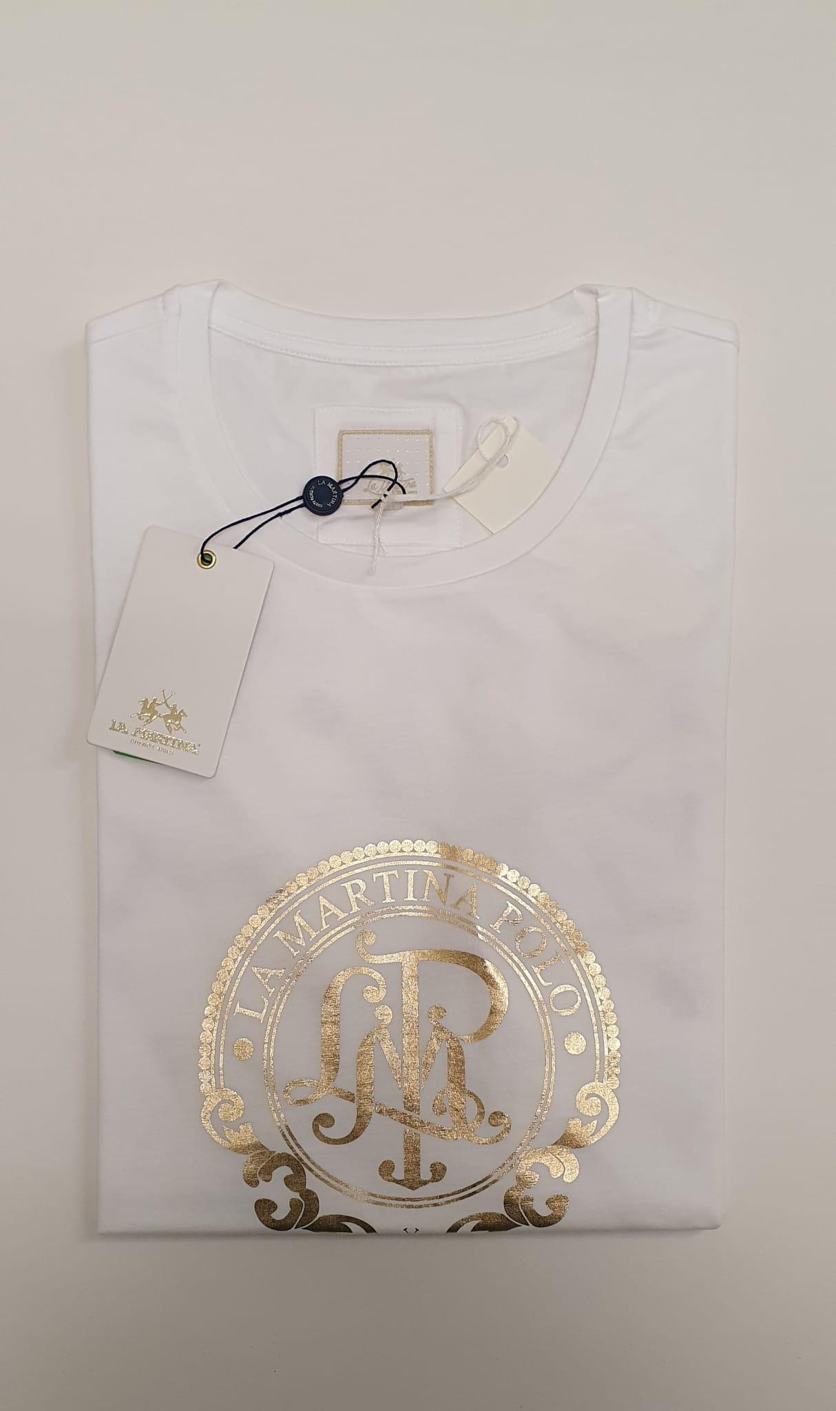 T-Shirt La Martina in Colore 100% Regular Fit Bianco