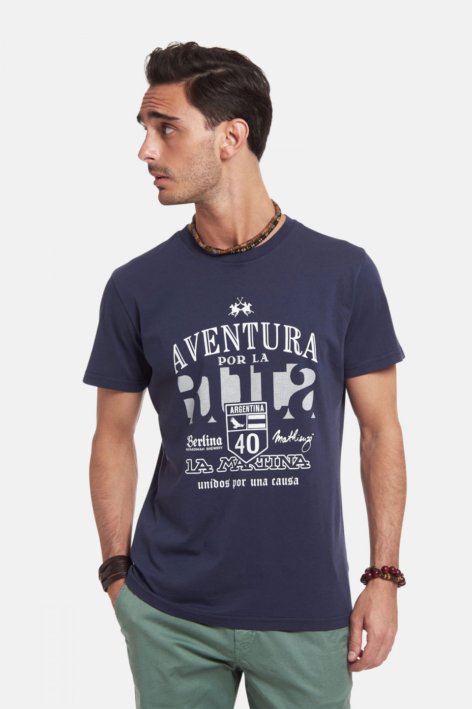 T-Shirt La Martina in Cotone Regular Fit Ruta40 Blu