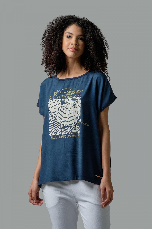 T-Shirt La Martina Viscosa Regular Fit Blu