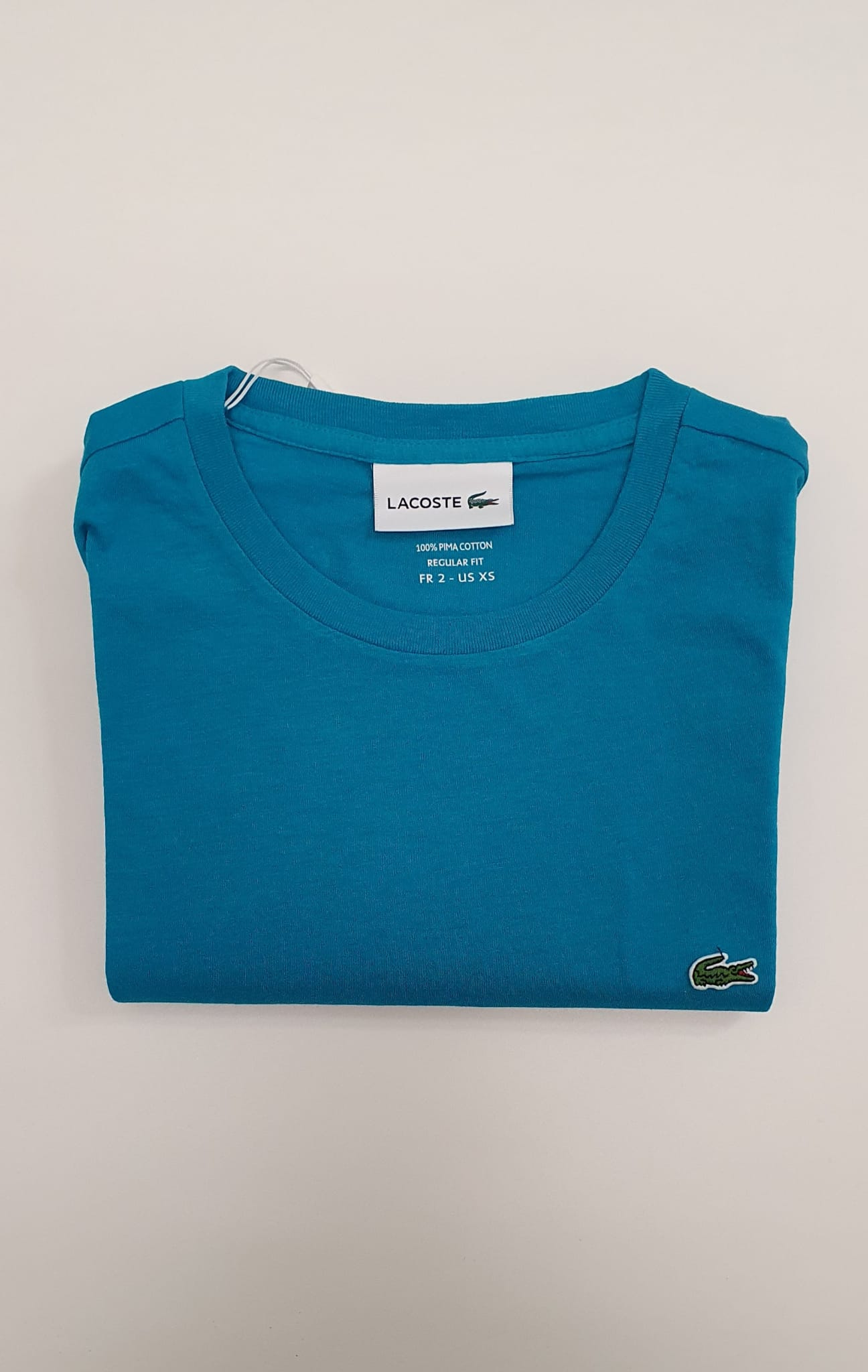 T-Shirt Lacoste uomo TH6709 a Girocollo in Jersy Turchese