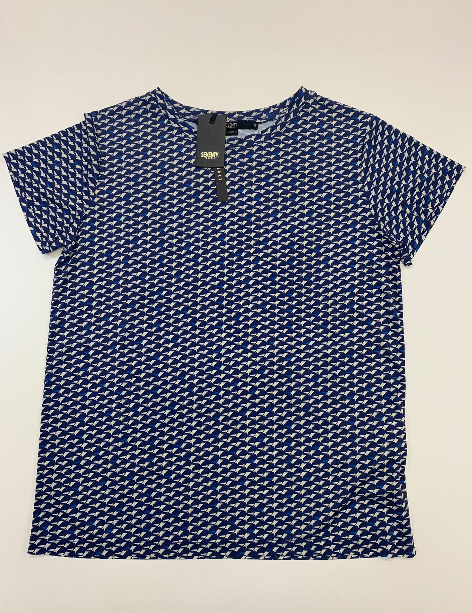 T-Shirt Seventy in Jersey Blu