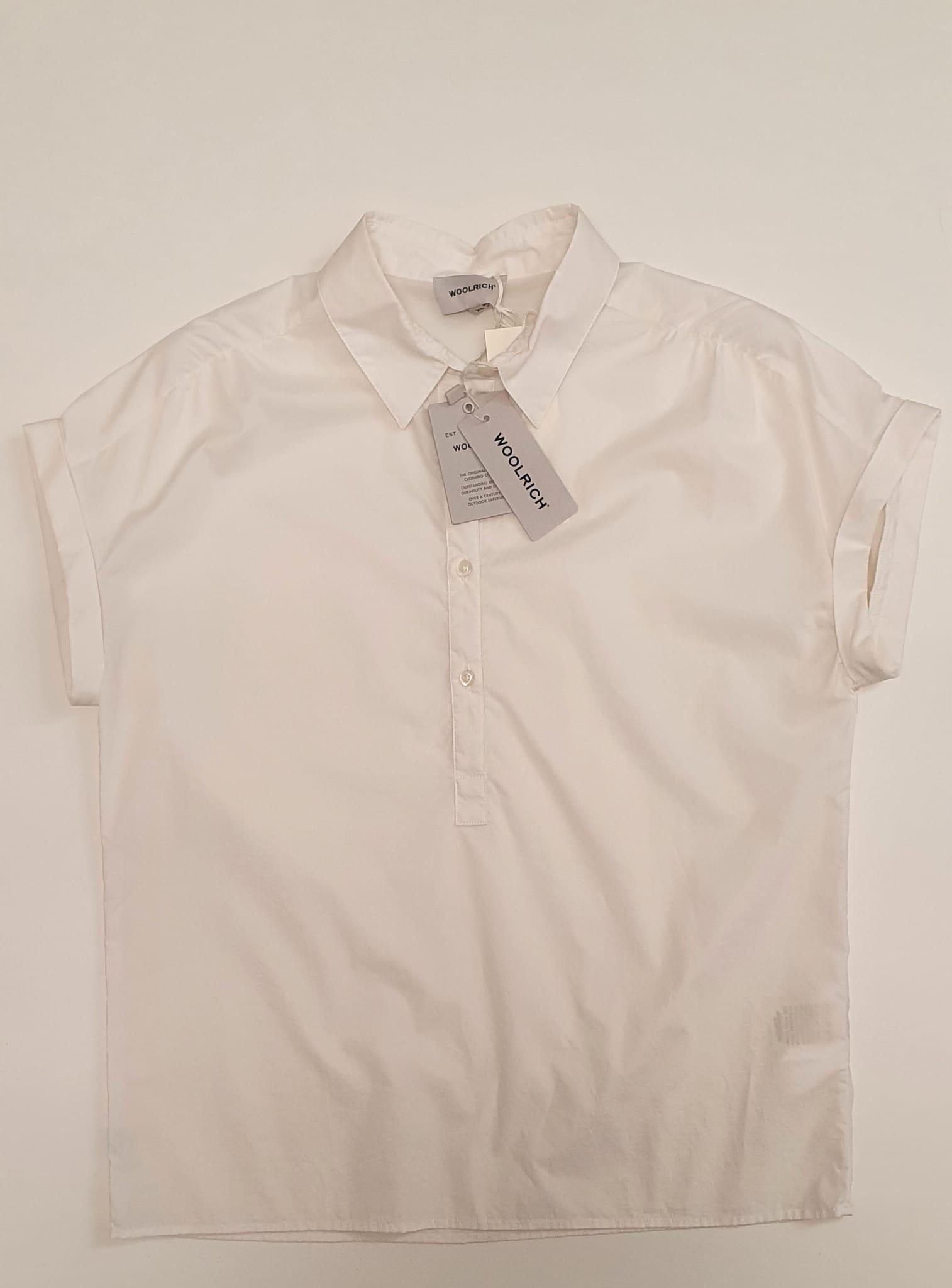 T-Shirt Woolrich Popeline Bianco