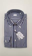Camicia XACUS Taylor Botton Down Riga Blu Bianco