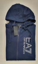 Felpa Uomo EA7 FullZip Cappuccio Blu