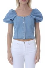 Top Donna kaos Denim In Cotone jeans